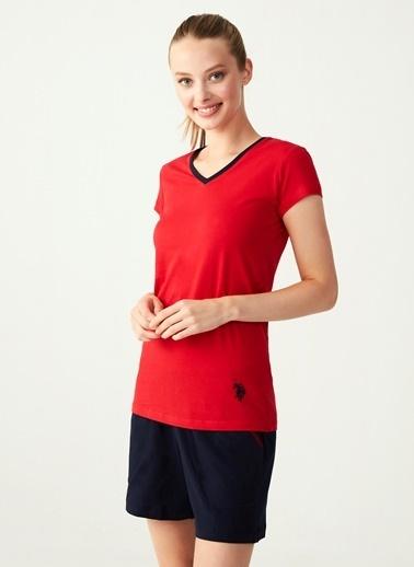 U.S. Polo Assn. Pijama Takım Kırmızı